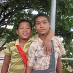 Boys Posing for Picture.