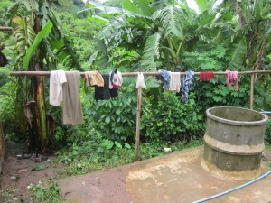 Children's clothesline and fresh water.